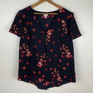 A New Day Floral Rose Blouse
